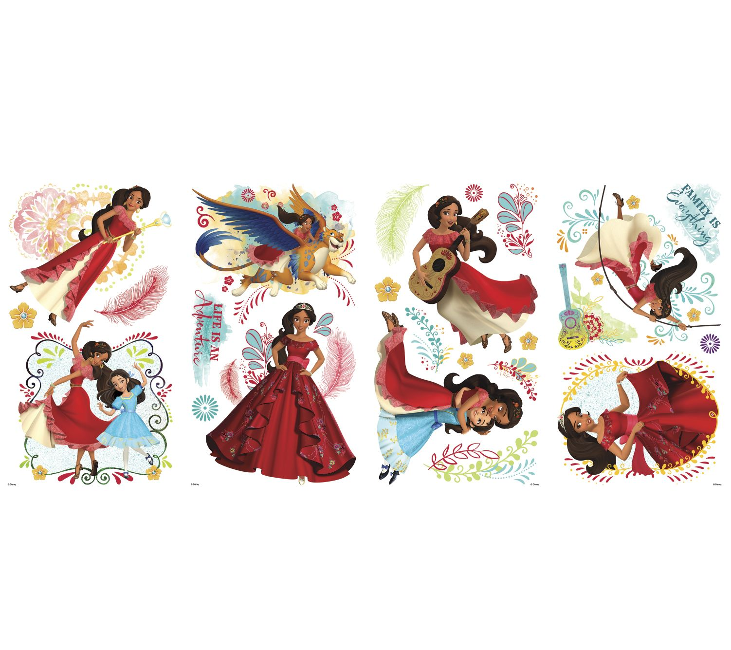 Roommates disney princess elena peel stick wall decals for Disney princess wall mural tesco