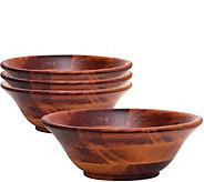 Lipper 7 Cherry Finish Set of 4 Bowls - H292456