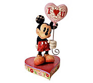 Jim Shore Disney Traditions Mickey with Heart Balloon Figurin - H356056