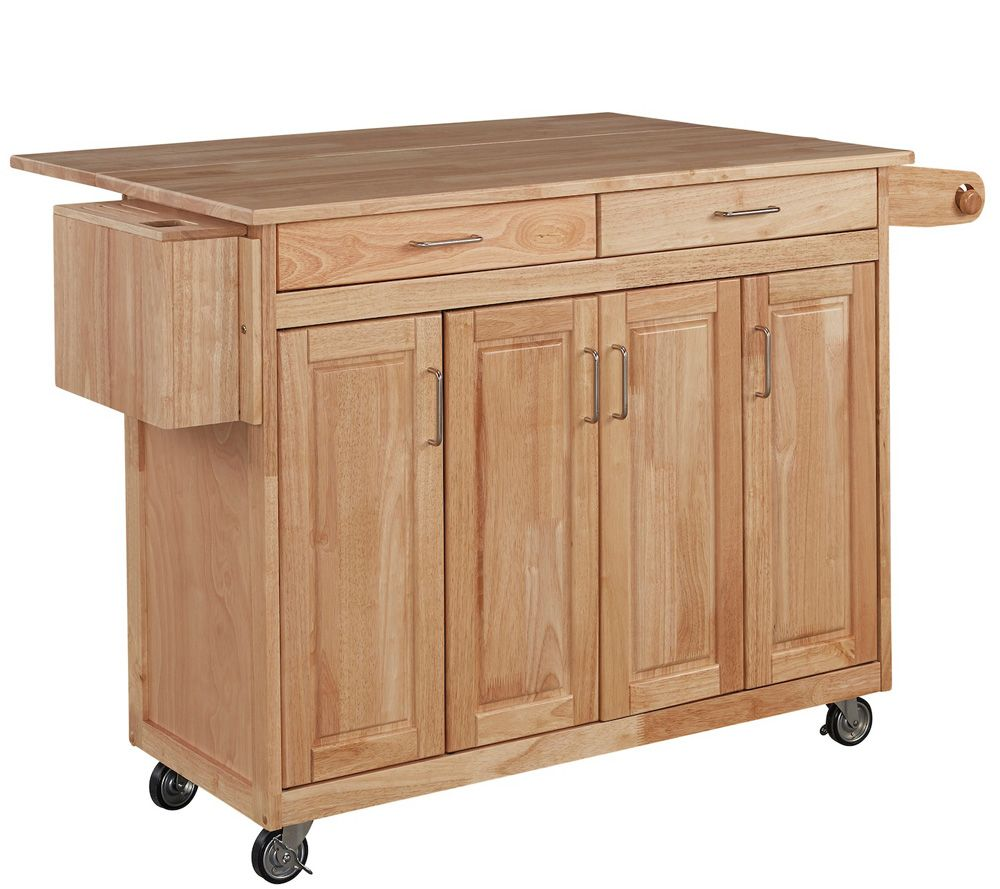 Home Styles Wood Kitchen Cart Breakfast Qvc