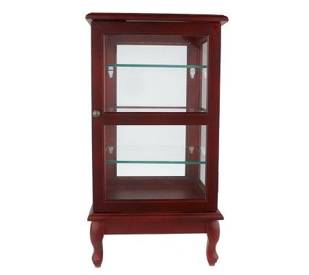 Thomas Pacconi Classic Table Top Curio Cabinet W Glass