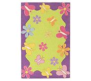 2 x 3 Flowers & Butterflies WoolHandmade Rug - H139757