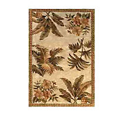 Royal Palace 79 x 96 Tropical Oasis Wool Handmade Rug - H146457