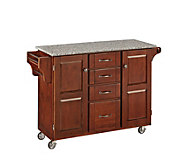 Home Styles Create-A-Cart Cherry Base with Granite Top Large - H150857