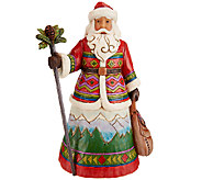 Jim Shore Heartwood Creek Mountaintop Messenger Santa Figurine - H205757