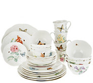 Lenox Butterfly Meadow 28-piece Porcelain Dinnerware Set - H207457