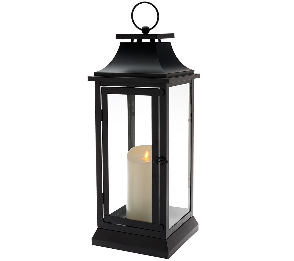 "Indoor Lantern Lights: Luminara Heritage Indoor Outdoor Lantern 19"" W/Flameless"
