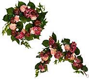 Ranunculus & Hydrangea Wreath or Garland by Valerie - H207657