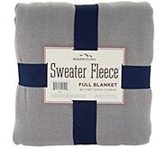 Berkshire FL Sweaterknit/ Microfleece Reversible Blanket - H209057