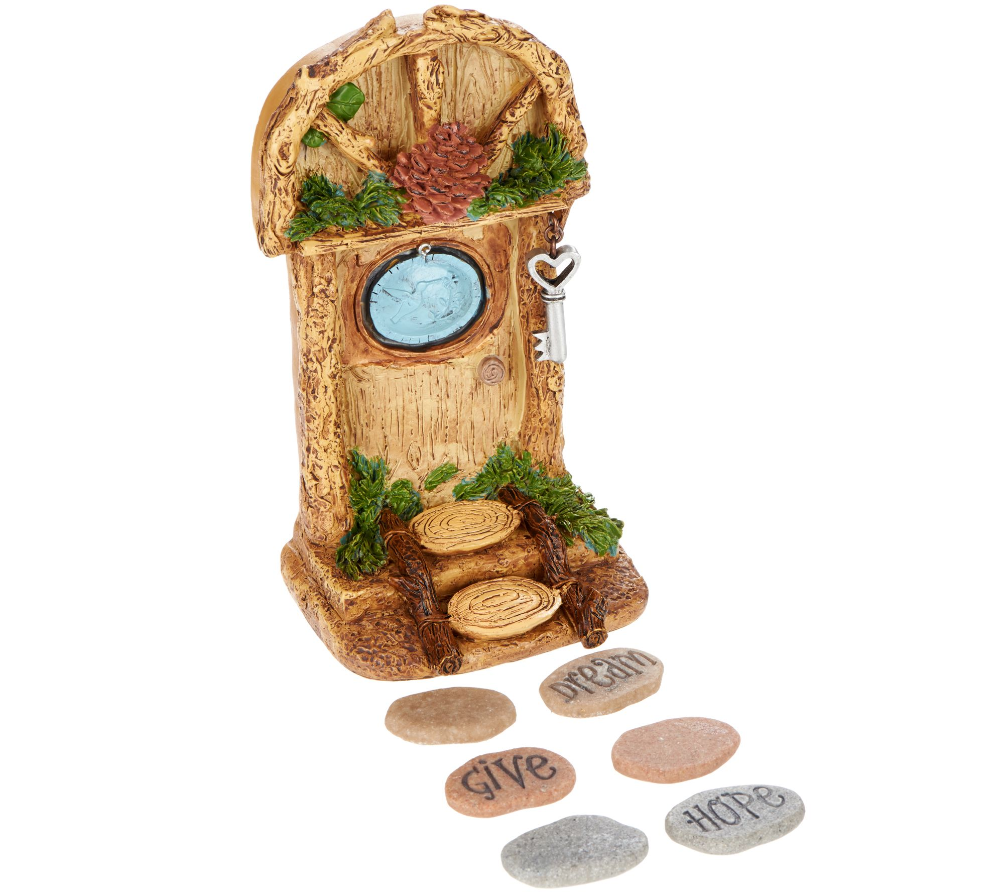 Spinning garden decorations - Hallmark Indoor Outdoor Fairy Garden Door With Stepping Stones H210157