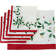 Lenox Holiday 60 x 84 Water Repel Table Cloth w/ 4 Napkins - H210457