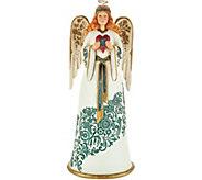 Jim Shore Heartwood Creek Golden Garland Heart Angel Figurine - H212157