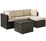 Crosley Palm Harbor 5-Pc Outdoor Wicker Sectional Seating Set - H283057