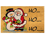 Geo Craft Christmas Coir Doormat - H283857