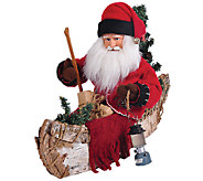 12 Santa and Canoe by Santas Workshop - H286457
