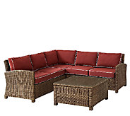 Crosley Bradenton 5-Piece Wicker Seating Set w/Table & Cushion - H286657