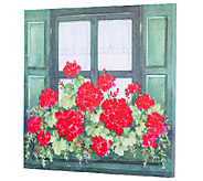 Plow & Hearth Geranium Window Box Outdoor Canvas Wall Art - H287057