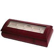Mele & Co. Emery Glass Top Wooden Watch Box inCherry Finish - H287357