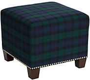 Skyline Furniture Square Nail Button Ottoman - H287757