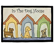 Dogs Houses 19x27 Tapestry Rug - H349257
