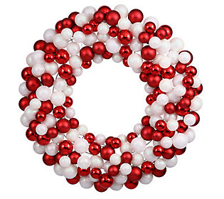 "24"" Candy Cane Ball Wreath by Vickerman"