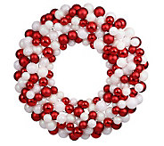 24 Candy Cane Ball Wreath by Vickerman - H354457