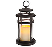 Home Reflections Round Lantern w/Flameless Candle w/Timer - H366357