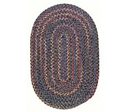 Twilight 10 x 13 Oval Wool Blend Braided Rug-Colonial Mills - H129658