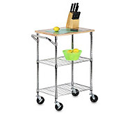 Honey-Can-Do Chrome 2-Shelf Urban Rolling Cart - H184058