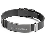 Things Remembered Gunmetal Rubber ID Bracelet - H186358