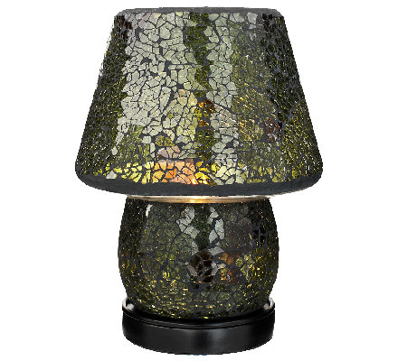 inch mosaic accent lamp with shade by valerie. Black Bedroom Furniture Sets. Home Design Ideas