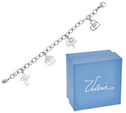 Heartfelt Stainless Steel Charm Bracelet with Gift Box by Valerie - H207058