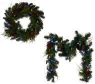 ED On Air Lit Pinecone Wreath Or Garland by Ellen DeGeneres