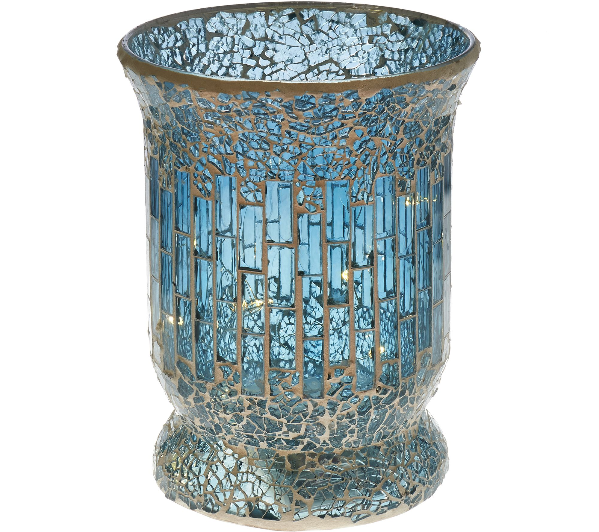 8 glass mosaic tiled vase with micro lights by valerie page 1 8 glass mosaic tiled vase with micro lights by valerie page 1 qvc reviewsmspy