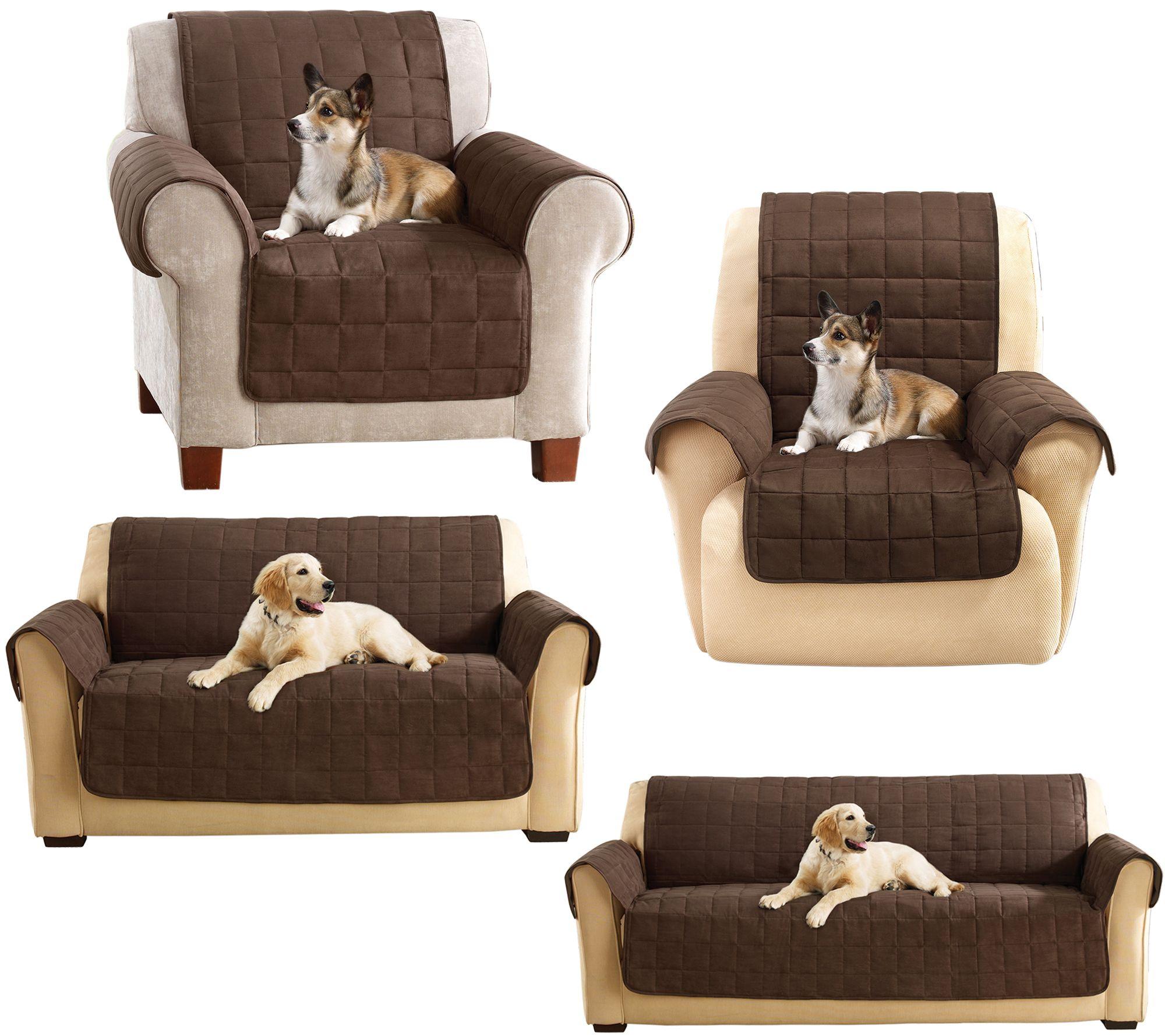 Sure Fit Furniture Cover Memory Foam fort Seat — QVC