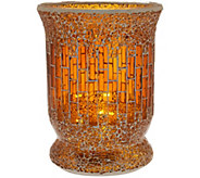 As Is 8 Glass Mosaic Tiled Vase with Micro Lights by Valerie - H210758