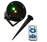 StarCaster Dancing Red & Green Laser Projector with Christmas Icons - H212958
