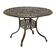 Home Styles Outdoor Floral Blossom 42 Round Dining Table - H284358