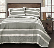Geometric Stripe 3-Piece Full/Queen Quilt Set by Lush Decor - H292558