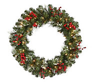 24 Siegal Berry Pine Wreath w/ Clear Lights byVickerman - H354058
