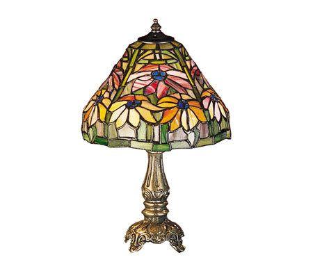tiffany style 13 poinsettia mini lamp page 1. Black Bedroom Furniture Sets. Home Design Ideas