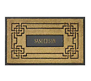 Personalized Coir Doormat with Aluminum Insert - H139259