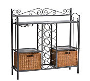 Elaine Black Iron Wine Rack - H160959