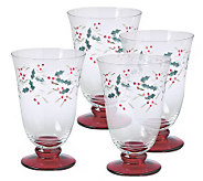 Pfaltzgraff Winterberry Water Goblet, 14 oz Set/4 - H184459