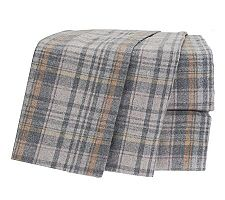 Amadeus Dylan Heather Flannel Plaid Sheet Set