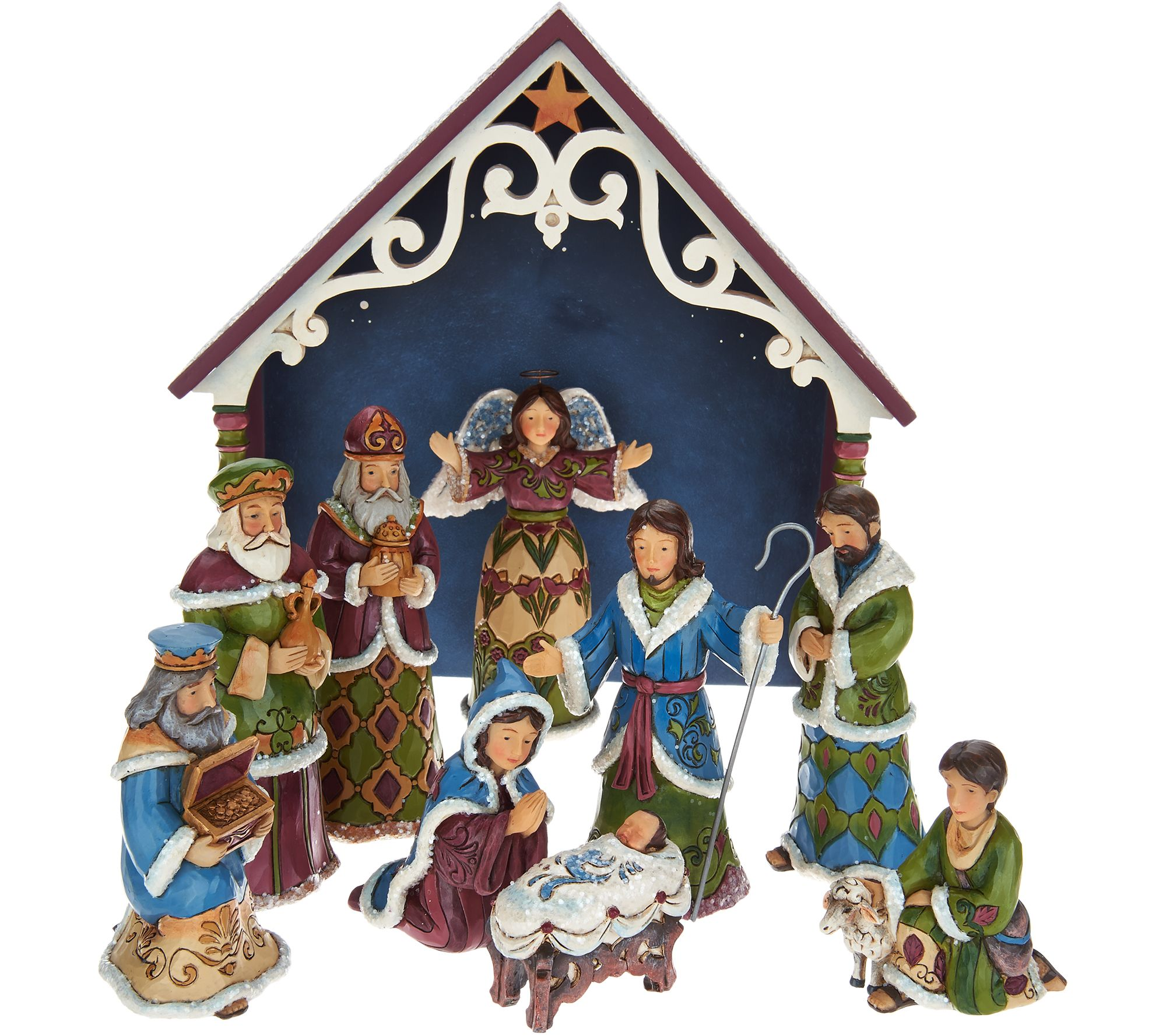 nativity scenes u2014 christmas u2014 holiday u2014 for the home u2014 qvc com