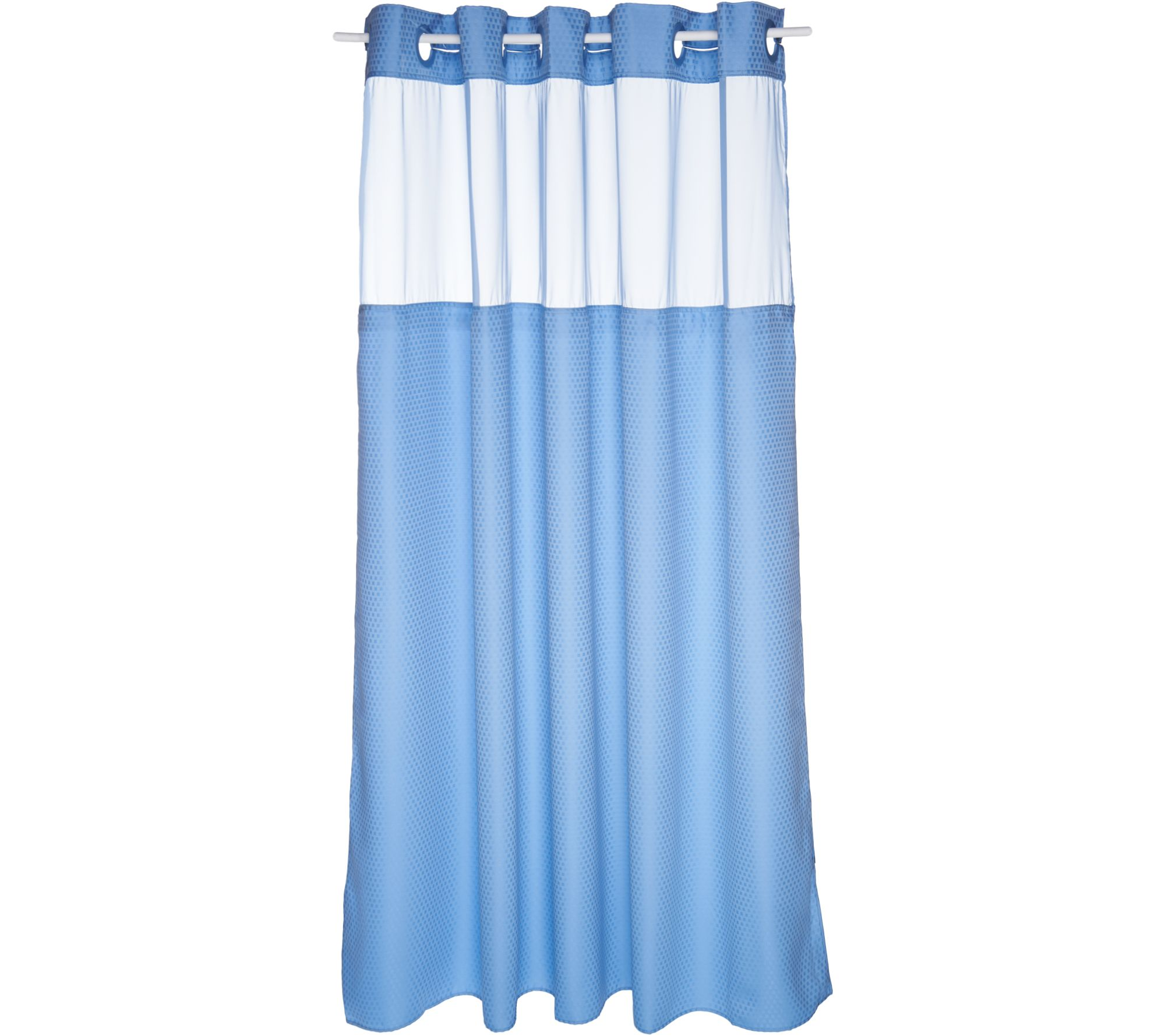 Hookless shower curtain blue - Hookless Mini Square Jacquard Shower Curtain W Fabric Liner Page 1 Qvc Com