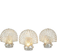 Set of 3 Illuminated Mercury Glass Figural Icons by Valerie - H213559