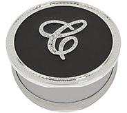 As Is Crystal Initial Compact Mirror with Magnification by Lori Greiner - H215559