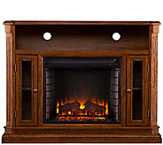 Duncan Media Console/Electric Fireplace, BrownOak Finish - H282459